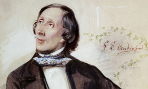 Portrait of Hans Christian Andersen by Karl Hartmann